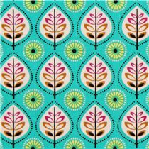 turquoise leaf fabric by Michael Miller from the USA - Flower Fabric - Fabric
