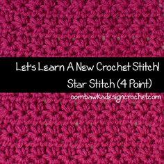 Four Pointed Star Stitch Tutorial @OombawkaDesign