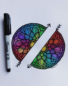 Mandalas - Mandalas -You can find Mandalas and more on our website. Sharpie Doodles, Sharpie Drawings, Sharpie Art, Sharpies, Mandala Art, Mandala Drawing, Tumblr Drawings, Tumblr Art, Amazing Drawings