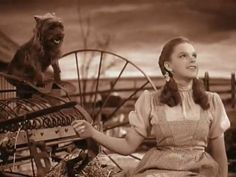 Dorothy (Judy Garland) & Toto) in The Wizard of Oz