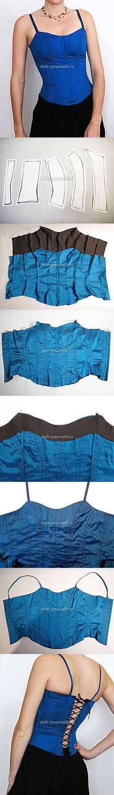 DIY Stylish Crop Top 2. Tank tops are very popular these days. You can wear them with jeans, shorts and sometimes even over a dress. Here is a fabulous idea you can try to make a stylish tank top. I really like the braid style in the back of the tank top. It looks so sexy! With a little bit of creativity, you can also create your own style of clothes. Let's get crafting!
