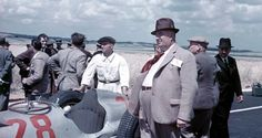1938 GP Francji (Reims-Gueux) Alfred Neubauer & Herman Lang Mercedes W154.