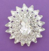 JP 207 Cry Wedding Brooch with Sparkling Crystal Rhinestones