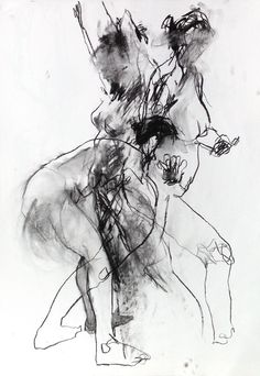 I love this vivid #drawing by David Hewitt. The way he captures movement #Art  #Charcoal