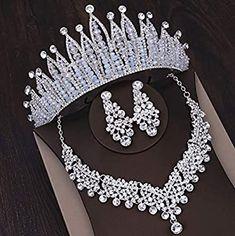 Women's Jewelry Sets, Royal Jewelry, Wedding Jewelry Sets, Wedding Hair Accessories, Cute Jewelry, Hair Jewelry, Women Jewelry, Bridal Tiara, Tiaras And Crowns