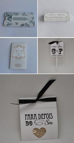 Leva pra Casa: Lembrancinhas fofas de casamento! | http://blogdamariafernanda.com/lembrancinhas-de-casamento-papelaria