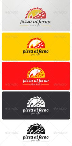 Pizza al Forno Logo — Vector EPS #traditional #wood oven • Available here → https://graphicriver.net/item/pizza-al-forno-logo/4021089?ref=pxcr