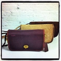 Vintage Coach Legacy Penny Shoulder Bags circa 1970's #ThrowbackThursday #tbt