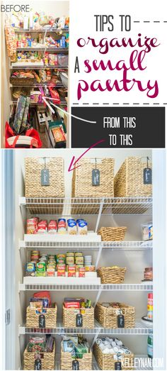 Kelley Nan: Nine Ideas to Organize a Small Pantry with Wire Shelving