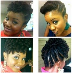 Another flat twist updo! VERY cute