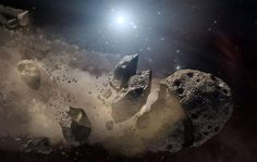 Newly spotted wet asteroids point to far-flung Earth-like planets