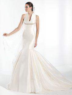 Vestido de novia, modelo Nubil de la colección de Franc Sarabia 2014.  www.sanpatrickgranada.es