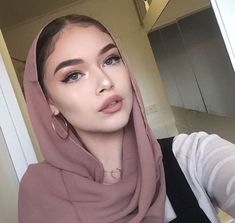 """""""For many, the hijab represents modesty, piety, and devotion to God, and I truly respect that. But the hijab should not be used as a means of applying social pr Hijab Turban Style, Mode Turban, Hijab Outfit, Hijab Fashionista, Hijabi Girl, Girl Hijab, Beau Hijab, Hijab Mode Inspiration, Hijab Makeup"""