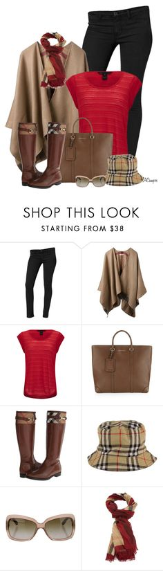 """""""Poncho & Riding Boots"""" by anna-campos ❤ liked on Polyvore featuring Calvin Klein, Burberry and Marc by Marc Jacobs"""