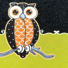 A Halloween owl from a greeting card