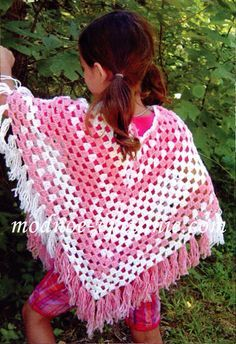 Crochet gold: Poncho! (For children). I had one when I was a little girl :)