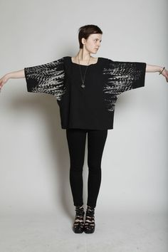 uzi feathers |  kimono top