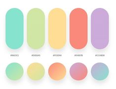 color psychology and color therapy Flat Color Palette, Pastel Colour Palette, Colour Pallette, Colour Schemes, Color Patterns, Ui Color, Pastel Gradient, Web Design, Mood Colors