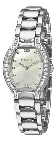Ebel Women's 9956P28/991050 Beluga Tonneau Mother-Of-Pearl Dial Diamond Watch, (carrera, heuer, tag)