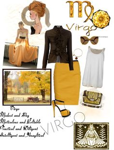 """""""Virgo Style"""" by roxanne-mcgarty on Polyvore- and I'm a Virgo too but not fond of gold"""