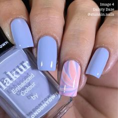 """Details Nail Polish Bottle 12 ml -0.4 oz A dreamy periwinkle blue creme perfect for floating through your daydreams. """"16+ Free"""" products do not contain: Formaldehyde, Formaldehyde Resin, TPHP, Acetone, Ethyl Tosylamide, Xylene, DBP, Toulene, Camphor Vegan Cruelty-Free Made in the USA Florium Complex Infused Londontown polishes are certified by PETA! *this product contains our new fan (wide) brush Image Credits Image 2 - @thepolishedpursuit Image 3 - @thepolishedqueen Image 4 - @stunnin.nails How Cute Acrylic Nail Designs, Best Acrylic Nails, Acrylic Nails For Spring, Gel Nail Polish Designs, Toe Nail Polish, Best Nail Designs, Matte Nail Designs, Cute Simple Nail Designs, Light Blue Nail Designs"""