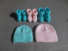 Cute little hat and booties in preemie sizes