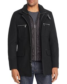 Cole Haan Four-Pocket Car Coat Men - Bloomingdale's Timberland Style, Timberland Fashion, Fashionable Snow Boots, Desert Boots, Sweater Coats, Winter Dresses, Winter Coat, Cole Haan, Winter Fashion