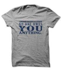 No One Owes You