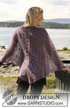 Pletený krajkový šátek z příze Kid-Silk. ~ DROPS Design