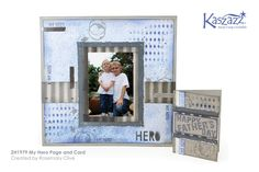 This project will show you how to create a simple masculine mixed media single page layout and a matching card. Matching Cards, Christmas Scrapbook, Page Layout, Scrapbooking Layouts, Project Life, My Hero, Finding Yourself, Projects To Try, Workshop