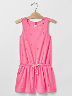 Open-back tank romper Product Image