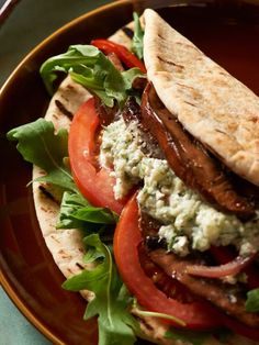 Love David's Vegetable #Gyros with Feta Sauce!