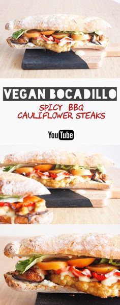 Spicy BBQ Cauliflower steaks VEGAN Bocadillo- ReinasyRepollos- post in spanish.