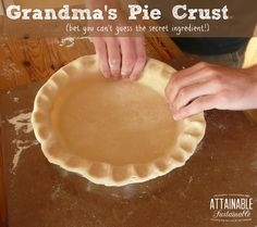 My grandma made a mean pie crust. Happily, I still have a copy of her recipe. Now you can make it, too!: