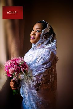 Pretty Mantilla Veil on NIgerian Bride. Lovely photo by Atunbi Photographer Wedding Beauty, Wedding Wear, Wedding Bride, Wedding Dresses, Wedding Hijab, Wedding Attire, Wedding Stuff, Nigerian Bride, Nigerian Weddings