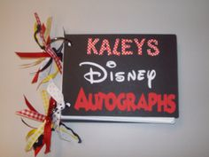 homemade disney autograph book | Here are the first few pictures from a Disney Autograph Book that I ...