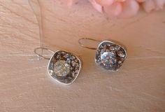 Σκουλαρίκια με κρύσταλλα Swarovski Druzy Ring, Earrings Handmade, Swarovski, Stud Earrings, Jewelry, Diy Kid Jewelry, Bijoux, Studs, Stud Earring