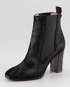 Verabotta Calf Hair Red Sole Bootie by Christian Louboutin at Neiman Marcus.