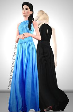 Chiffon gown by Sunny - Sims 3 Downloads CC Caboodle