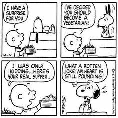 #thepeanuts #pnts #schulz #snoopy #charliebrown #vegetarian