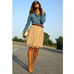 Chemise en jean et ceinture - Magazine Avantages