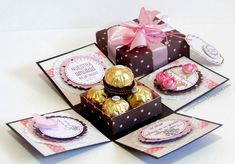 this exploding box tutorial. Great way to sh. - Found this exploding box tutorial. Great way to sh. -Found this exploding box tutorial. Great way to sh. - Found this exploding box tutorial. Great way to sh. Boite Explosive, Exploding Box Card, Pop Up Box Cards, Magic Box, Diy Cards, Paper Crafting, Diy Gifts, Cardmaking, Birthday Cards