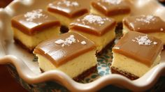 Use this recipe for caramel! (DH) Salted Caramel Cheesecake Squares recipe from Ree Drummond via Food Network Ree Drummond, Cheesecake Squares, Cheesecake Recipes, Dessert Recipes, Speggetti Recipes, Doritos Recipes, Fennel Recipes, Drink Recipes, Baking Recipes