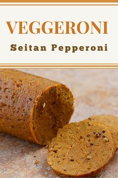 Veggeroni (Seitan Pepperoni): It's much easier than you think to make vegan pepperoni and other types of vegan sausages using vital wheat gluten and seasonings. Vegan Seitan Recipe, Seitan Recipes, Vegan Pepperoni, Pepperoni Recipes, Gourmet Recipes, Whole Food Recipes, Cooking Recipes, Recipes Dinner, Breakfast