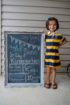 Back to school, first day of kindergarten, first day of school, chalkboard signs