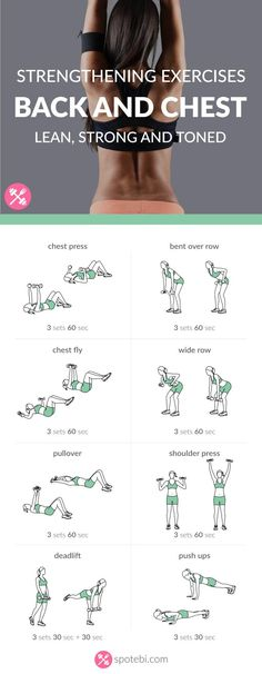 Try these chest and back strengthening exercises for women to help you tone, firm and lift your chest and improve your posture. http://www.spotebi.com/workout-routines/chest-back-strengthening-exercis