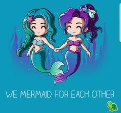 #besties #mermaids https://www.fanprint.com/stores/teeshirtstudio-fut?ref=5750