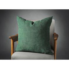 Dark Green Pillow, Dark Green Velvet Pillow, Dark Green Bed Pillow,... (25 BAM) via Polyvore featuring home, home decor, throw pillows, modern throw pillows, dark green throw pillows, velvet throw pillows, modern accent pillows and velvet accent pillows