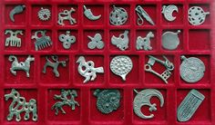 Amulets and pendants, XI - XIII century. Ancient Rus, Vikings, but actually they are of Finnic origin.