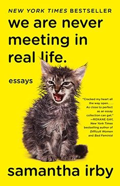 We Are Never Meeting in Real Life.: Essays by Samantha Irby https://www.amazon.com/dp/1101912197/ref=cm_sw_r_pi_dp_U_x_M26AAbQ1JC41S